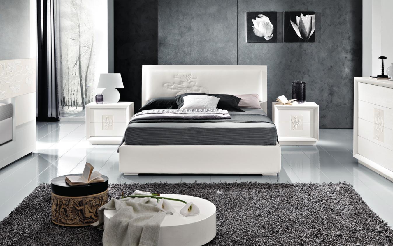 Letto artemide letto moderno made in italy - Camera da letto frassino bianco ...