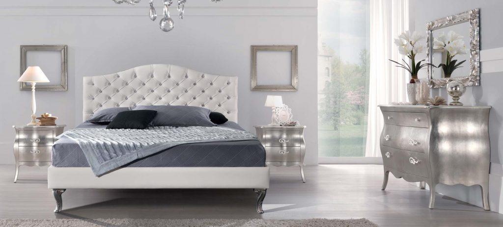 Alfieri foglia argento ccamera da letto elegante - Camera da letto particolare ...