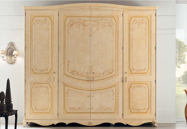 Armadio dante armadio patinato decorato - Camera da letto stile classico ...