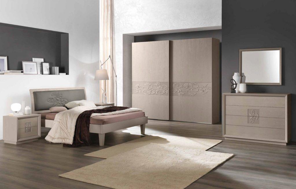 Letti Moderni Legno : Letti artemide frassino grigio u2013 letto moderno made in italy