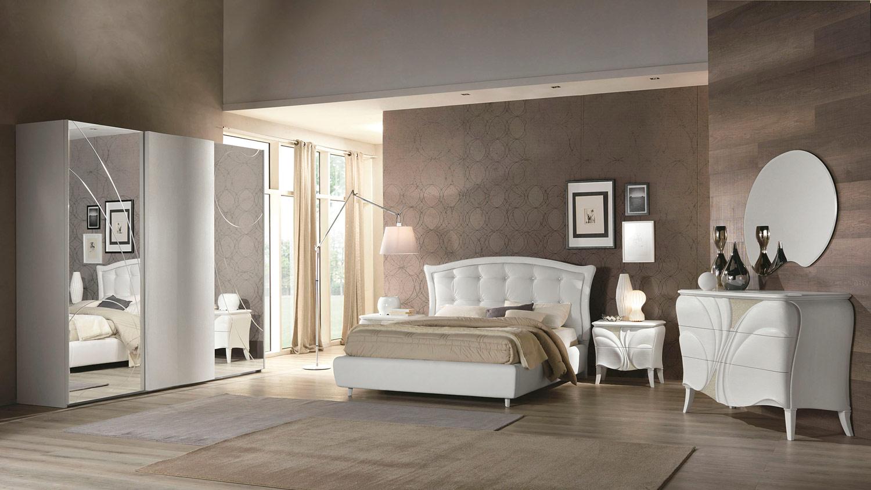 Fiocco frassino bianco arredo contemporaneo per la for Trittico camera da letto