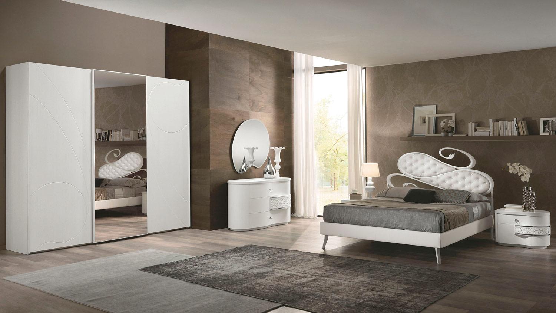 Nuvola arredamento elegante per la camera da letto - Camera da letto frassino bianco ...