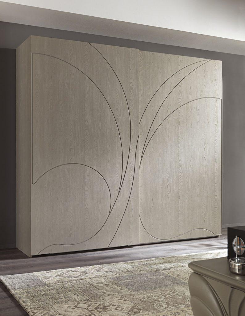 Armadio per camera da letto - Adone Grey ante legno