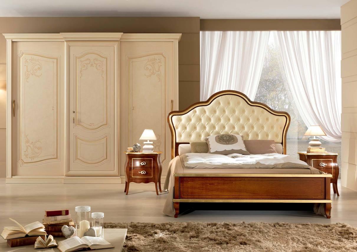 Letto enea noce letto classico in legno - Camera da letto classica ...