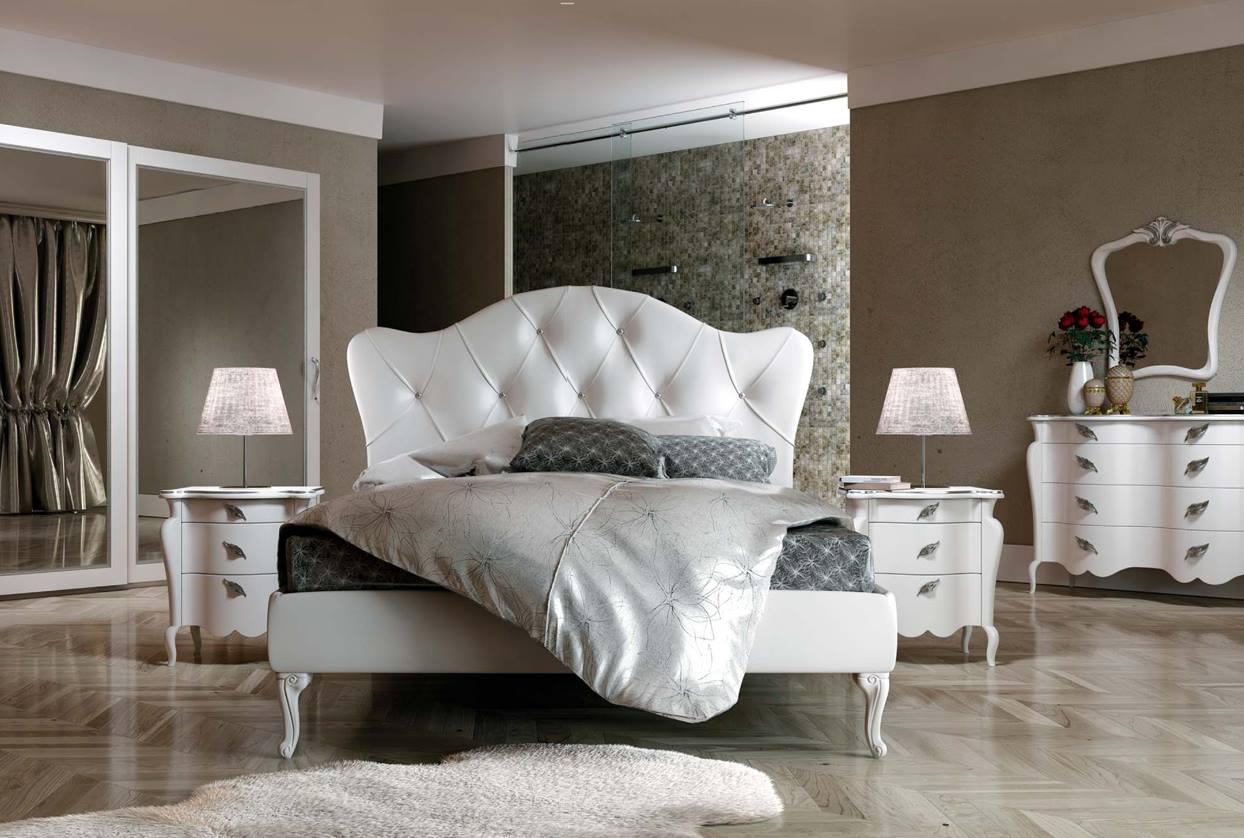 Letto ingrid letto di design con swarovski for Camera letto design