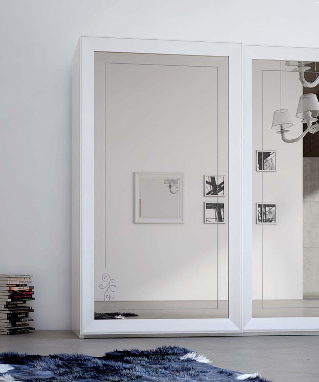 Armadio chanel 2 ante armadio moderno con specchi - Camera da letto barocco moderno ...