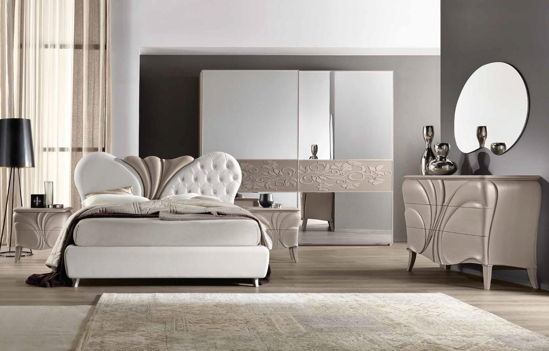 Letti fiocco grigio letto moderno di euro design - Camera da letto frassino bianco ...