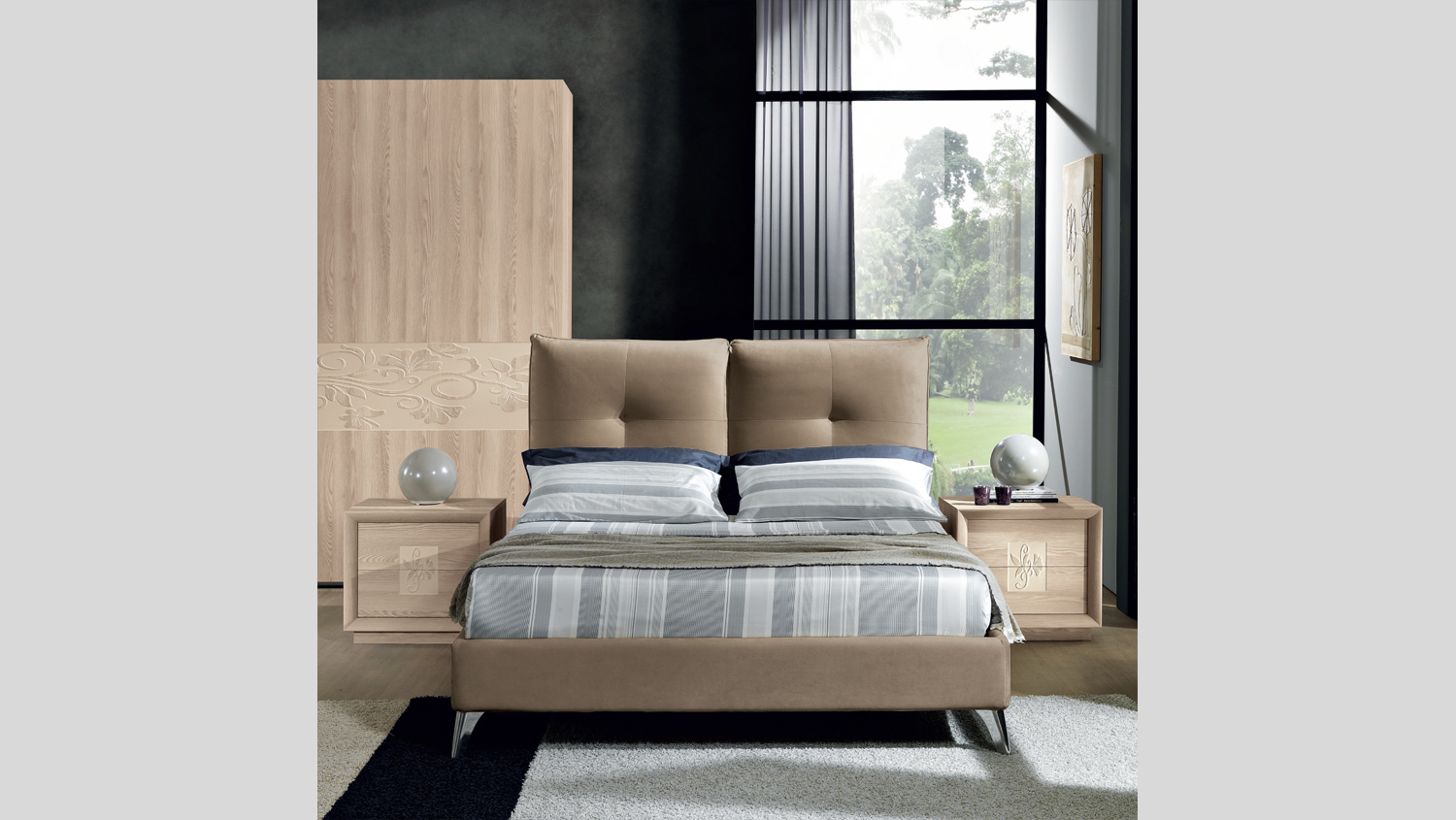 Kira - Letto moderno Made in Italy